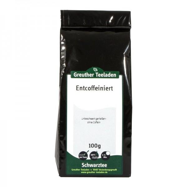 Schwarztee, entcoffeiniert