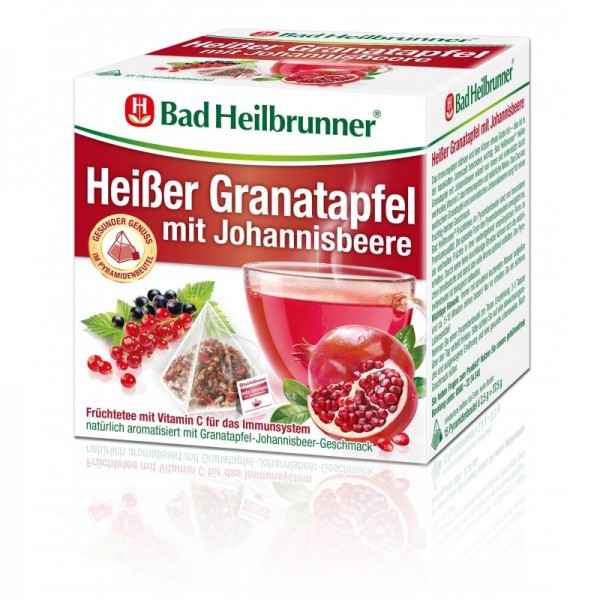 Heißer Granatapfel mit Johannisbeere
