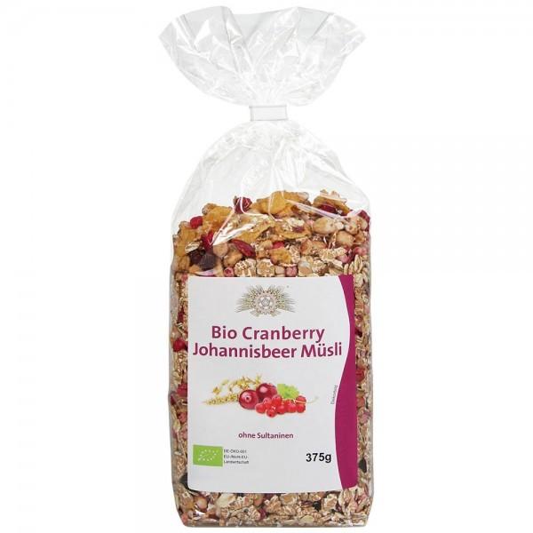 BIO Cranberry-Johannisbeer-Müsli