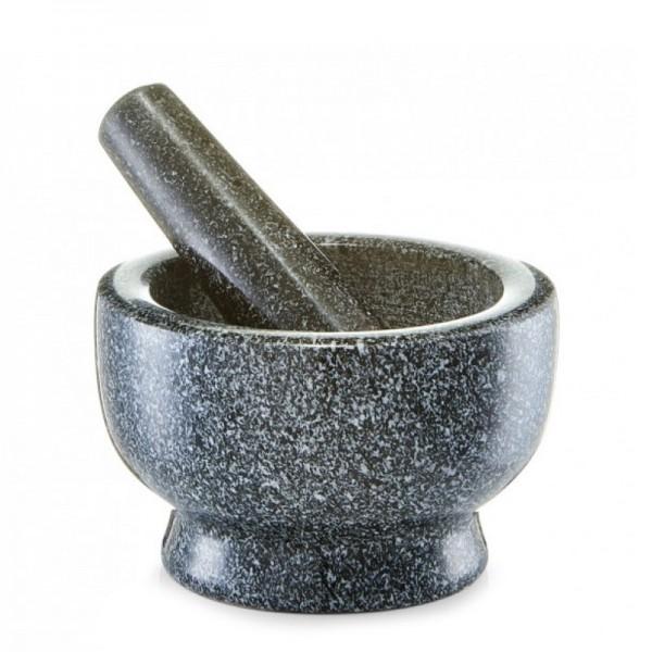 Mörser & Stößel-Set, Granit, anthrazit