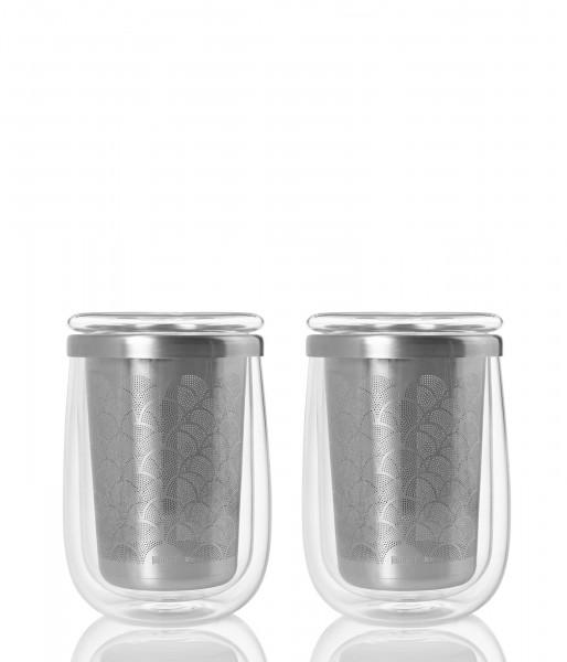 Aktions-Set - 2 Teegläser mit Teefilter FUSION GLASS