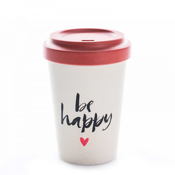 BambooCup Happy calligraphy