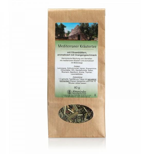 Mediterraner Kräutertee (Olivenblätter mit Orangengeschmack)
