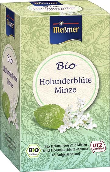 Bio Holunderblüte Minze, 18 Beutel