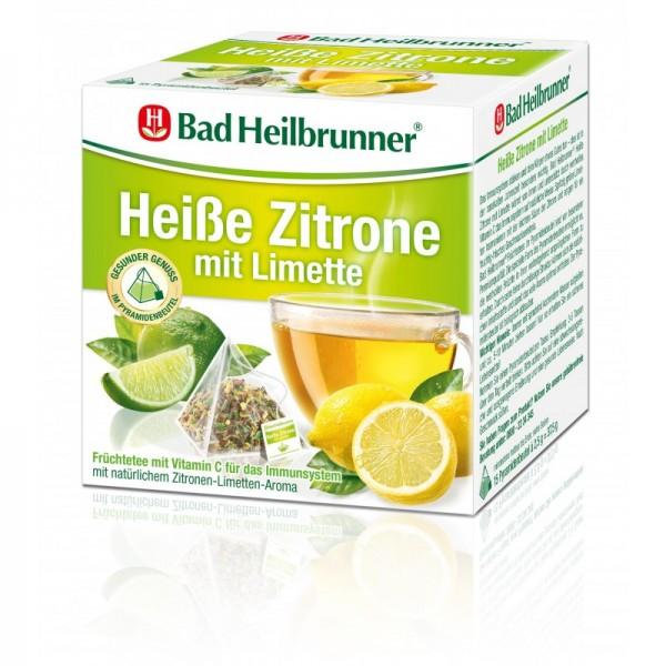 Heiße Zitrone mit Limette