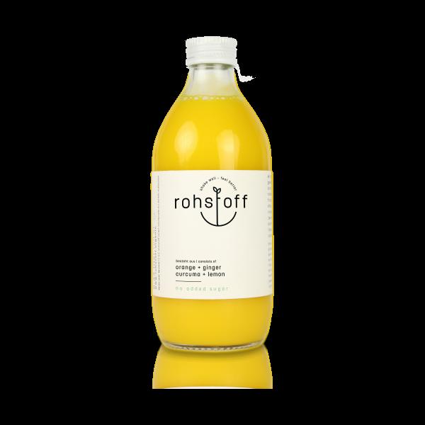 BIO Mehrfruchtsaft Orange Ingwer Kurkuma Zitrone 0,33l