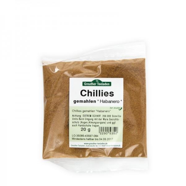 Chilies Habanero gemahlen