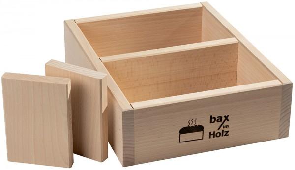 """Holzbackrahmen """"doppelt"""" inkl. 2 Trennbretter"""