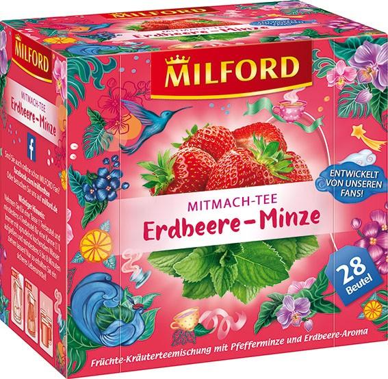 Früchtetee Erdbeere-Minze