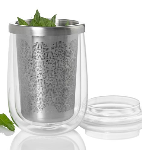 AdHoc Teeglas mit Teefilter FUSION GLASS (400 ml)
