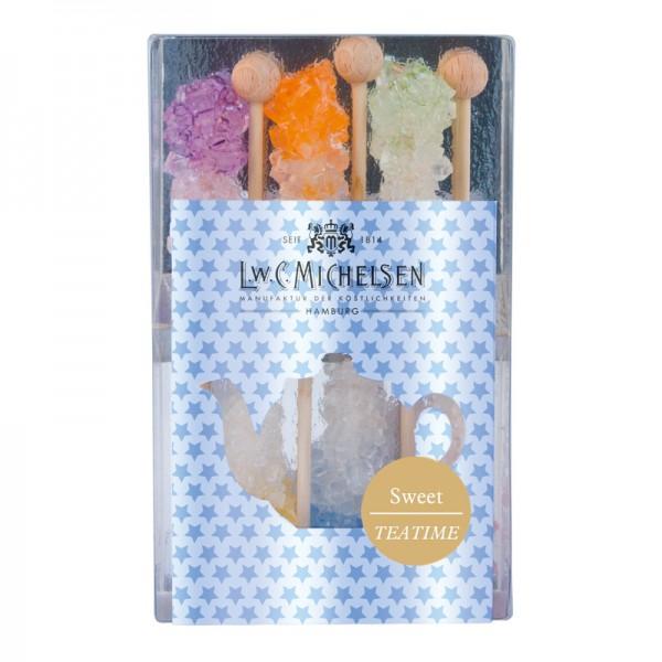 Sweet Teatime - 6 bunte Kandissticks