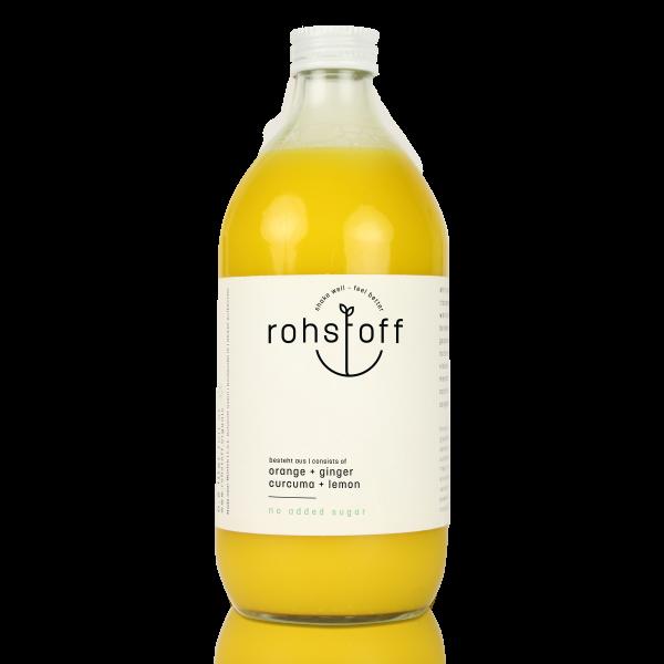 BIO Mehrfruchtsaft Orange Ingwer Kurkuma Zitrone 0,5