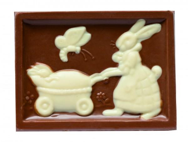Glückswinkel Schokolade Hasentafel Vollmilch 75g