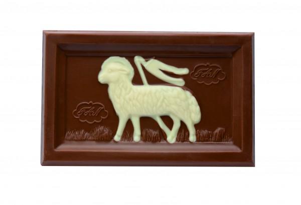 Glückswinkel Schokolade Lammtafel Vollmilch 100g